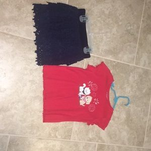 Other - Skirt and cotton tee outfit